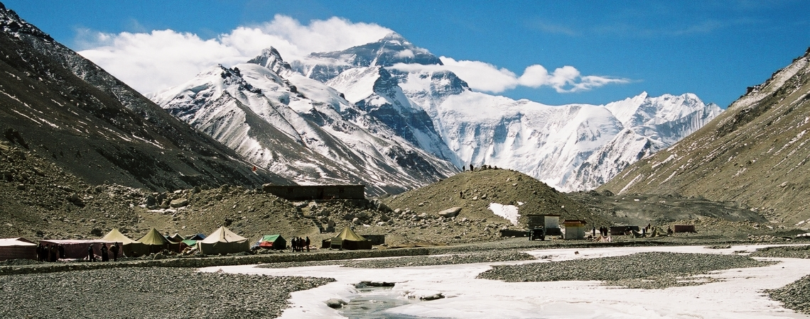 Everest ja alumine baas Tiibetis